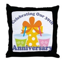 39th Anniversary Celebration Throw Pillow