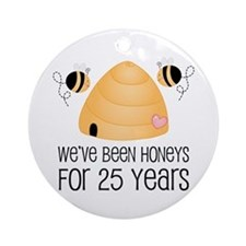 25th Anniversary Honey Ornament (Round)