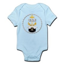 Navy - CPO - Chief Hat Infant Bodysuit