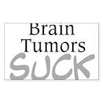 Brain Tumors Suck Sticker (Rectangle 10 pk)