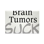 Brain Tumors Suck Rectangle Magnet (100 pack)