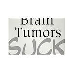 Brain Tumors Suck Rectangle Magnet (10 pack)