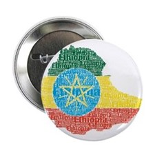 "Ethiopian Flag Print 2.25"" Button"