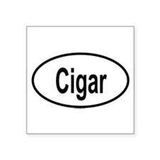 CIGAR Oval Sticker