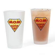 Superhero Mom Drinking Glass