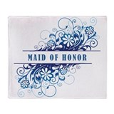 MAID OF HONOR Throw Blanket