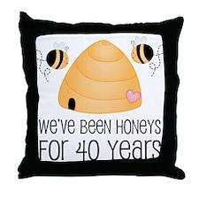 40th Anniversary Honey Throw Pillow