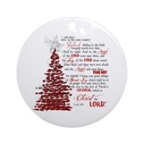 Luke 2:8 Ornament (Round)