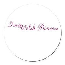 Welsh Princess Round Car Magnet