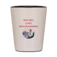 programmer Shot Glass