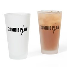 Zombie Plan for Zombiekamp.com Drinking Glass