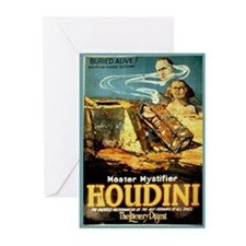 Vintage Houdini Poster Greeting Cards (Pk of 10)
