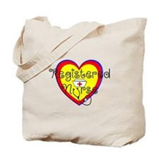 RN heart Red yellow blue Stetho.PNG Tote Bag
