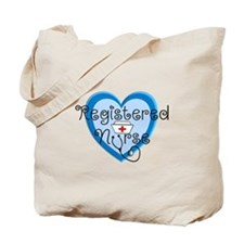 RN heart Blue Stetho cap.PNG Tote Bag