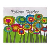 Retired Teacher Whimsical trees Blanket.PNG Stadi