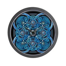 Blue Celtic Tapestry Wall Clock