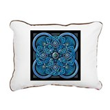 Blue Celtic Tapestry Rectangular Canvas Pillow