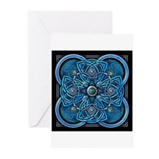 Blue Celtic Tapestry Greeting Cards (Pk of 10)