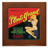 Plenti Grand Vegetables Framed Tile