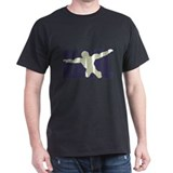 Bail Silhouette Text Logo (purple)  T-Shirt