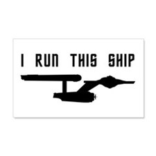 I Run This Ship Wall Decal