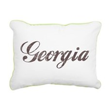 Vintage Georgia Rectangular Canvas Pillow