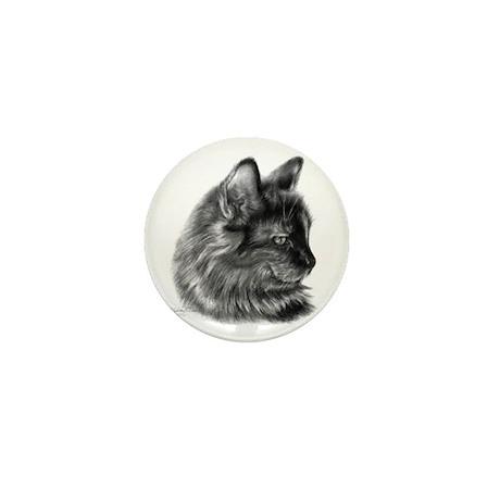 Tortoise Long-Hair Cat Mini Button (100 pack)