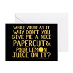 Lemon Juice Greeting Card Greeting Card