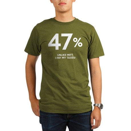 47% Organic Mens Dark T-Shirt