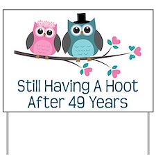 49th Anniversary Owls Yard Sign