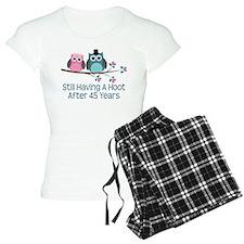 45th Anniversay Owls Pajamas