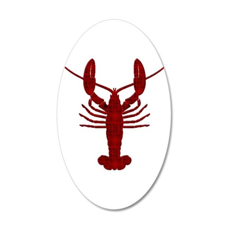Lobster 20x12 Oval Wall Decal
