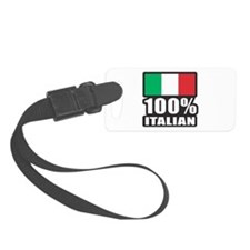 100% Italian Luggage Tag