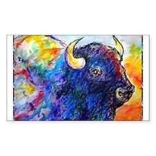 Buffalo, colorful art! Bumper Stickers