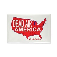 Dead Air America No Lib Radio Rectangle Magnet