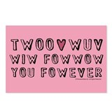 Twoo Wuv Postcards (Package of 8)