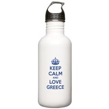 Keep calm and love greece Sports Water Bottle