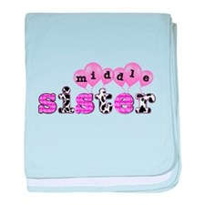 middle sister balloon decor baby blanket