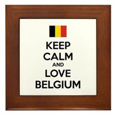 Keep calm and love Belgium Framed Tile