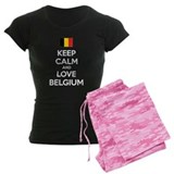 Keep calm and love Belgium pajamas