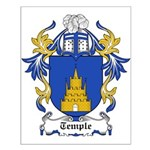 Temple Coat of Arms Small Poster