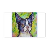 Dog! Boston Bull Terrier! Art! Car Magnet 20 x 12