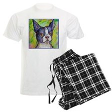Dog! Boston Bull Terrier! Art! pajamas