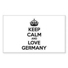 Keep calm and love Germany Decal