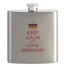 Keep calm and love Germany Flask