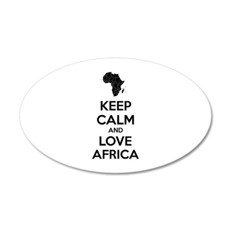 Keep calm and love Africa 22x14 Oval Wall Peel