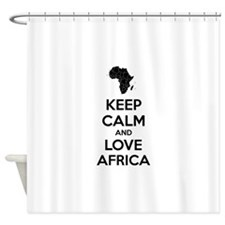 Keep calm and love Africa Shower Curtain