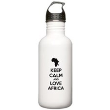 Keep calm and love Africa Water Bottle