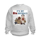 I Love Sports 6th Birthday Sweatshirt