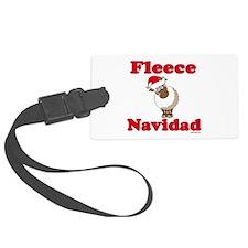 Fleece Navidad Luggage Tag